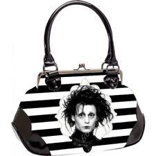 Rock Rebel Edward Scissorhands Black White Stripe Handbag Purse