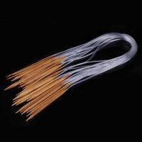 18 Größen 2-10mm Bambus Knit Pro Rundstricknadel Stricknadeln Holz 80cm