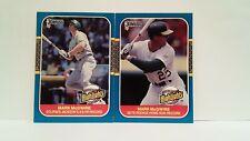 Mark McGwire 1987 Donruss Highlights Rookie HR Record + Reggie Jacksons Record