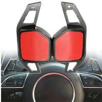 2x Extension Palette Volant Aluminium Plastique pour Audi A1 A3 A6 A8 Q5 Q7  -