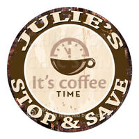 CWSS-0052 JULIE'S STOP&SAVE Coffee Sign Birthday Mother's Day Gift Ideas