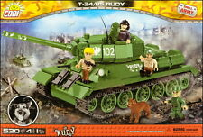COBI T-34/85 Rudy (2486 A) - 530 elem. - WWII Soviet/Polish medium tank