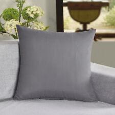 Microfiber Cushion Cover Plain Color Soft Decorative Pillow Case 2Pcs/Bag