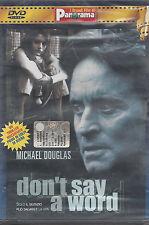 Dvd **DON'T SAY A WORD** con Michael Douglas nuovo sigillato 2002