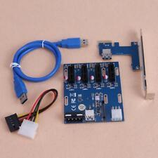 PCI-E to 4 PCI-E 1x Slot Extender Riser Card Mining Board 6PIN SATA Bitcoin Card