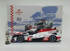 Spark 1/18 Model Car Die Cast Toyota TS050 Hybrid 24H the Mans 2018 Alonso