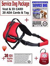 SERVICE DOG PKG - Vest + ID CARD + ADA Card + Dog Tag-No Choke Harness-LuvDoggy