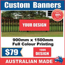 Custom Outdoor Vinyl Banner Sign - 900mm x 1500mm - Australian Made