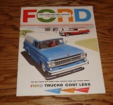 1958 Ford Truck F-100 Pick Up Panel Delivery Sales Brochure 58