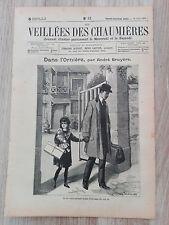 Journal illustré 1909  - Veillées des Chaumières - 14 Août - Dans l'Ornière...