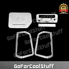 Fit 2013-2014 Nissan Titan Chrome Tail Light Cover+Tailgate W/Camera +Gas Door