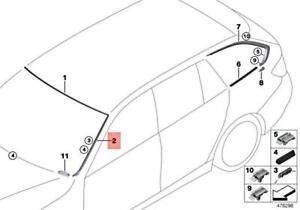 BMW OEM 12-16 328i Windshield-Pillar Side Molding Trim Surround Left 51317258187