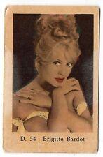 1960s Swedish Film Star Card Star D Set # 54 French Sex Symbol Brigitte Bardot