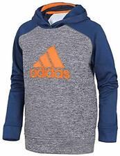 New adidas Boys' Athletic Pullover Hoodie(Navy/Orange-L(14/16))