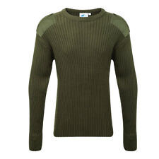Blue Castle Army Combat Style Jumper Pullover Work Crew Neck Jumper - 120 3xl Olive Green