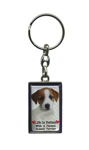 Life Is Better With A Dog Metal Keyring - Key Ring - Over 30 Breeds Available