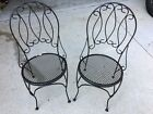 2 Black Wrought Iron Chairs Patio Furniture