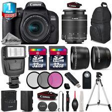 Canon Rebel 800D T7i Camera + 18-55mm IS STM + Flash +Filter Kit + 1yr Warranty