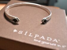 Silpada 'Diamante' Natural Agate Cuff Bracelet in Sterling Silver b3419