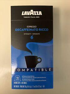 Lavazza Decaffeinato Ricco Nespresso Espresso Coffee Capsules, 10 Count.