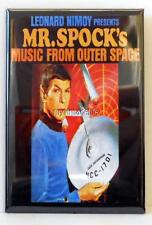 "Vintage MR. SPOCK's MUSIC from OUTER SPACE 2"" x 3"" Fridge MAGNET Star Trek"