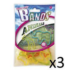 Kids Toy Bands Wacky Lacky Jelly Bracelets Fun Party Gift Childrens Animals 3pks