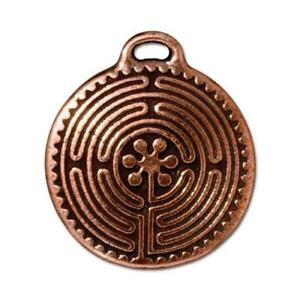 TierraCast Labyrinth Pendant, Antiqued Copper Plated Pewter (T836)