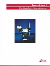 Microscope Brochure - Leica - Stereo 1 2 - Fixed Magnification - c1991 (CB166)