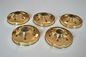 SET 5 CLASSIC STYLE BRASS GLASS LIGHT SHADE GALLERY 4 1/4 INCH LAMP SHADE NR10