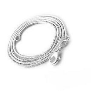 Solid Sterling Silver Snake Chain Size 24 Inch Weighing 14g