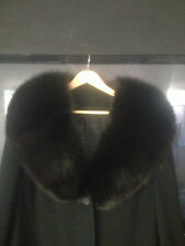 Cashmere Coat with Fur/ Black color