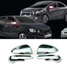 Chrome Silver Mirror Cover Molding Garnish 2Pcs for CHEVY 2011-2017 Sonic Aveo