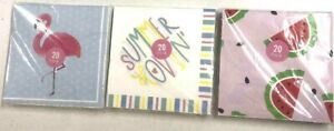 Theme Birthday Party Paper Napkins Assorted Designs - 20 pk