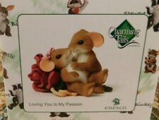 Charming Tails Loving You is My Passion Mouse Figure 4043849 Great Valentine Nib