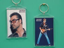 George Michael - with 2 Photos - Designer Collectible Gift Keychain