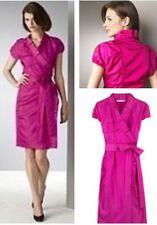 Dvf Diane von Furstenberg Victoire fuchsia pink silk wrap dress size 10-14