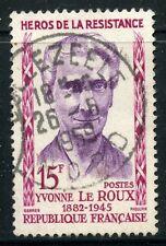 STAMP / TIMBRE FRANCE OBLITERE N° 1199 / HEROS DE LA RESISTANCE / LE ROUX