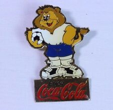 Enjoy Coca-Cola Football (Gold Colour Background) Brooch Pin Badge