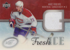 05-06 UD Ice Mike Ribeiro Jersey Fresh Ice GLASS Canadiens 2005 Upper Deck