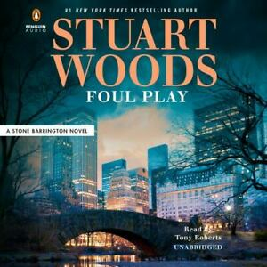 Stuart Woods FOUL PLAY (Stone Barrington) Unabridged CD *NEW* FAST Ship!