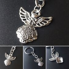 Guardian Angel Keyring Religious Christening Charm Protection Women's Men's Gift