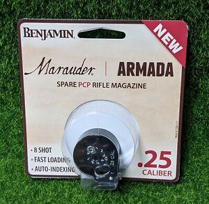 Benjamin Marauder/Armada Spare PCP Rifle Magazine, BB .25 Cal, 8 Round - RC2508