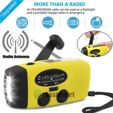 Emergency Rechargeable Solar Hand Crank USB Charging Weather Radio Torch AM/FM