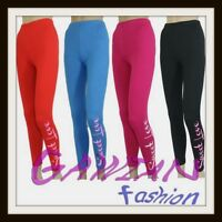Girls Full Length Leggings Pattern Sweet Love size 3 4 5 6 7 8 9 10 11 12 13 age