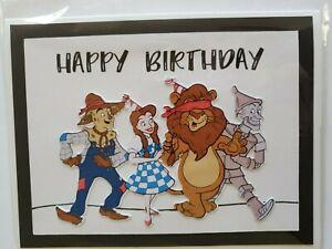 WIZARD OF OZ  HAPPY BIRTHDAY GREETING CARD