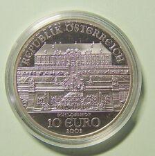 10 € Österreich 2003 - Schloss Hof - PP - 925 Silber ,