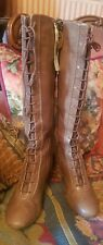 CLARKS LEATHER LACE FRONT HIGH BOOTS STEAMPUNK VICTORIAN SIZE 4 MARY POPPINS!