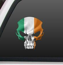 "Irish flag Skull 7""x 8"" Color decal bumper Sticker, Truck, Car, Motorcycle biker"