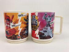 Go Bots Cups Vintage 1984 Tonka Deka Plastics Robot Vehicles Lot 2 Coffee Mugs