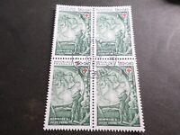 FRANCE BLOC timbres 2248 CROIX ROUGE, oblitéré 1982 cachet rond, QUARTINA